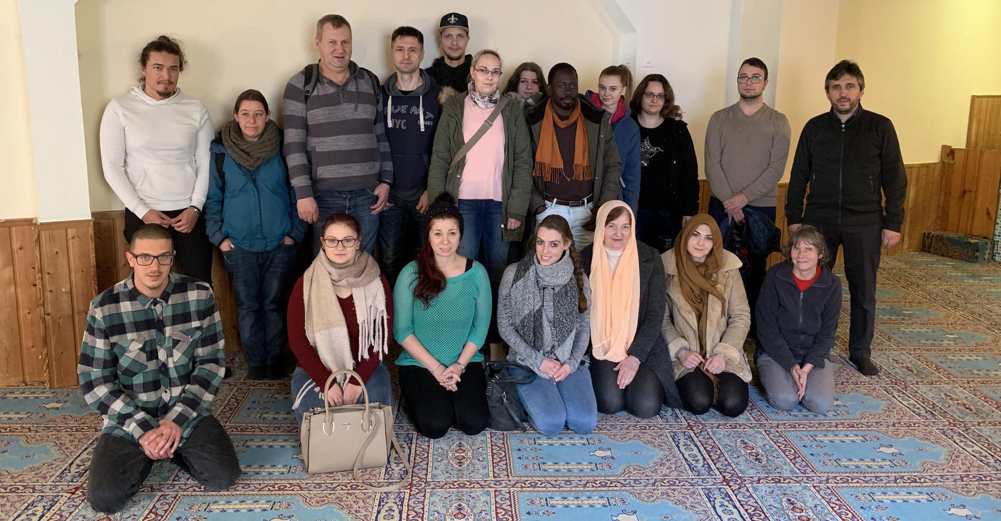 Moscheeführung einer Altenpflegeklasse